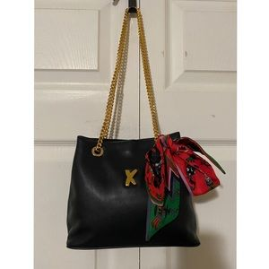 PALOMA PICASSO Vintage Two-Way Leather Chain Bag